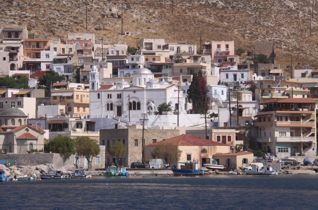 The Large Church of Christ in Kalimnos that has Amazing Frescos and Icons Inside