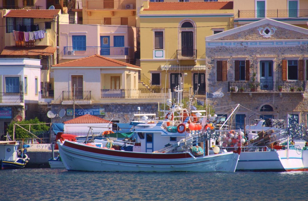 Houses and Fishing Boats of Pothia are a Photographer's Dream