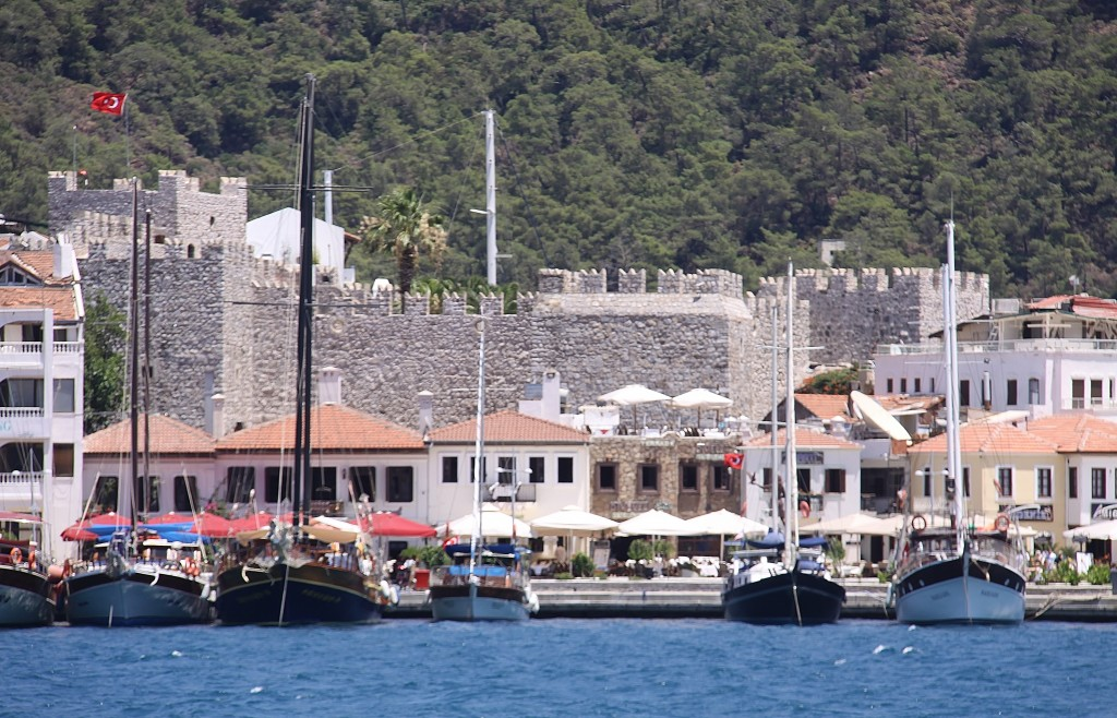 The Castle Overlooks the Busy Harbour