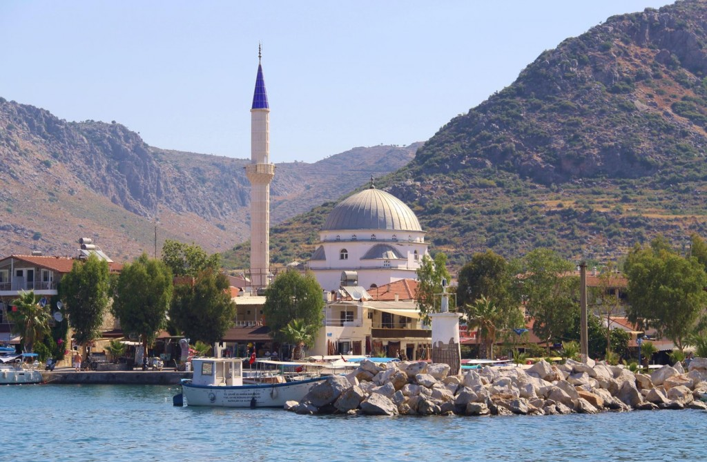 The Mosque Stands Out in the Small Township of Bozburun