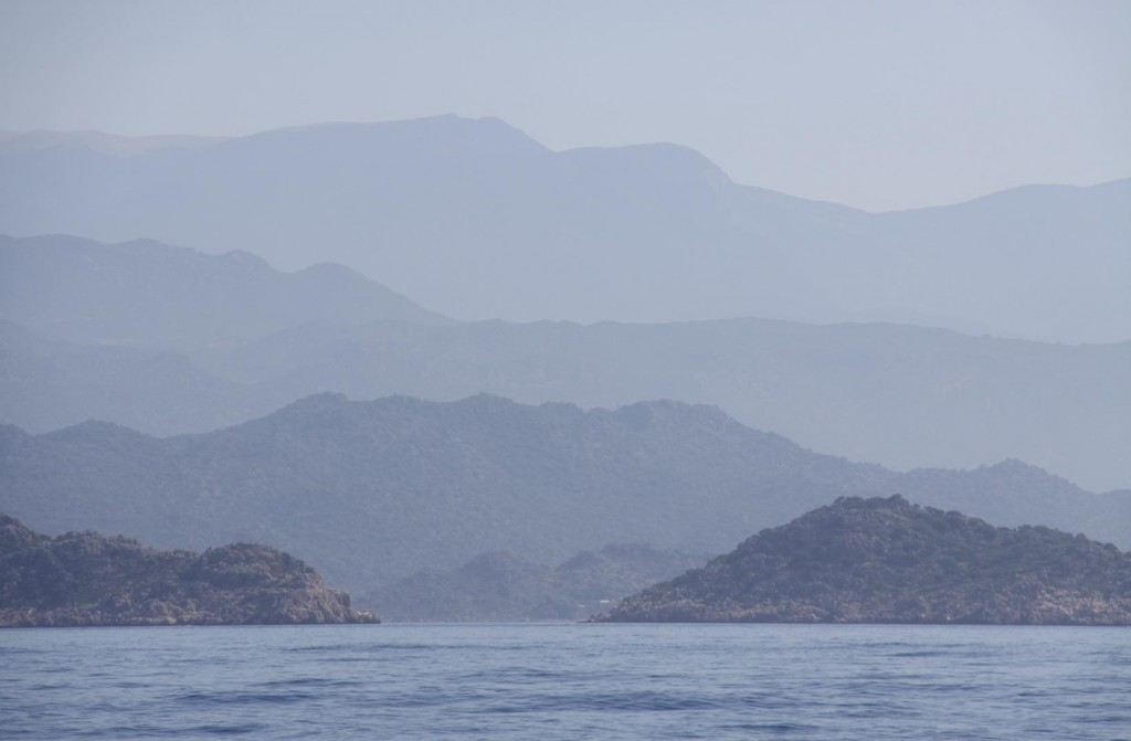 The Layers of the Terrain Make a Wonderful Backdrop for the Sea