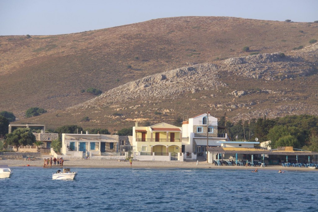 The Town of Pserimos is the Only Port on the Small Island