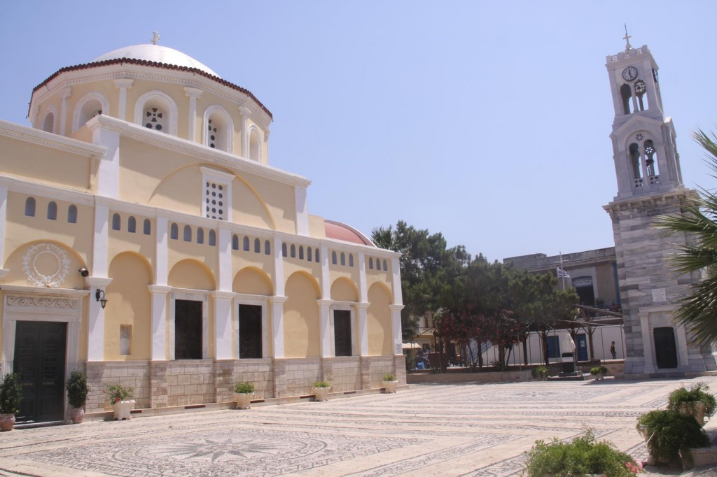 The Large Church of Christ in Kalimnos with Frescos and Icons Inside