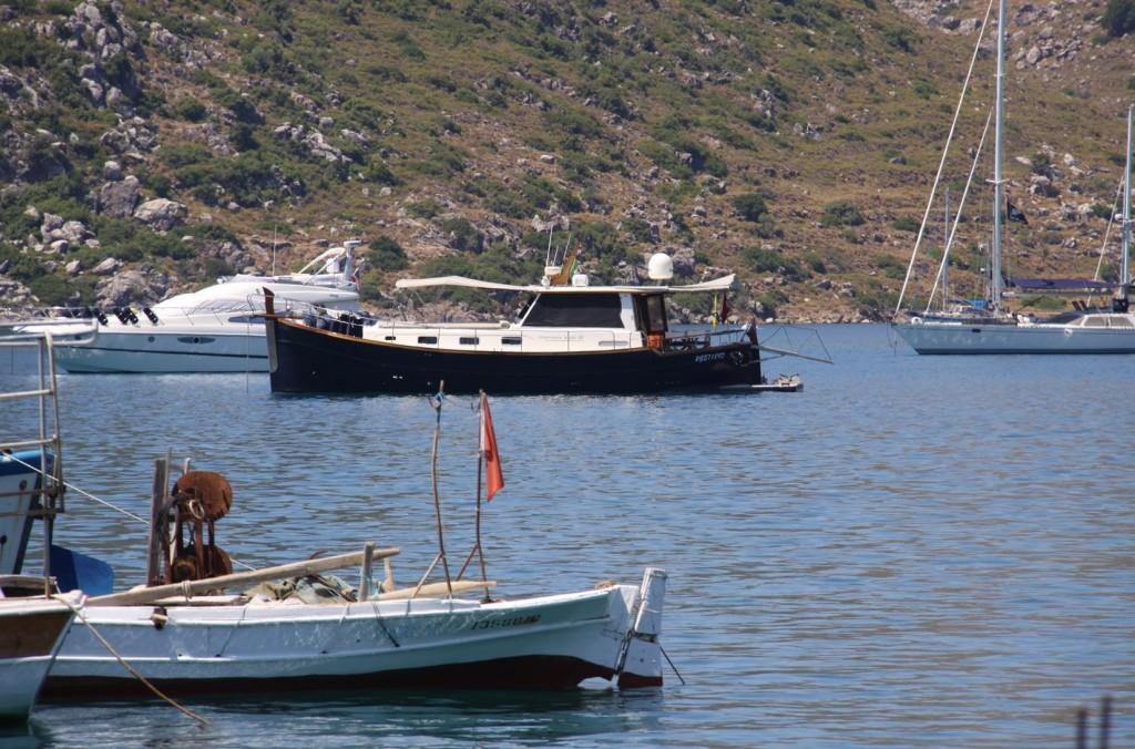 Tangaroa on Anchor in Bozburun Bay