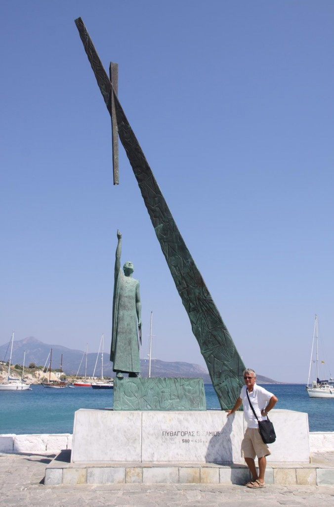 By the Port is an Interesting Sculpture to Honour the Birth Place of Pythagoras