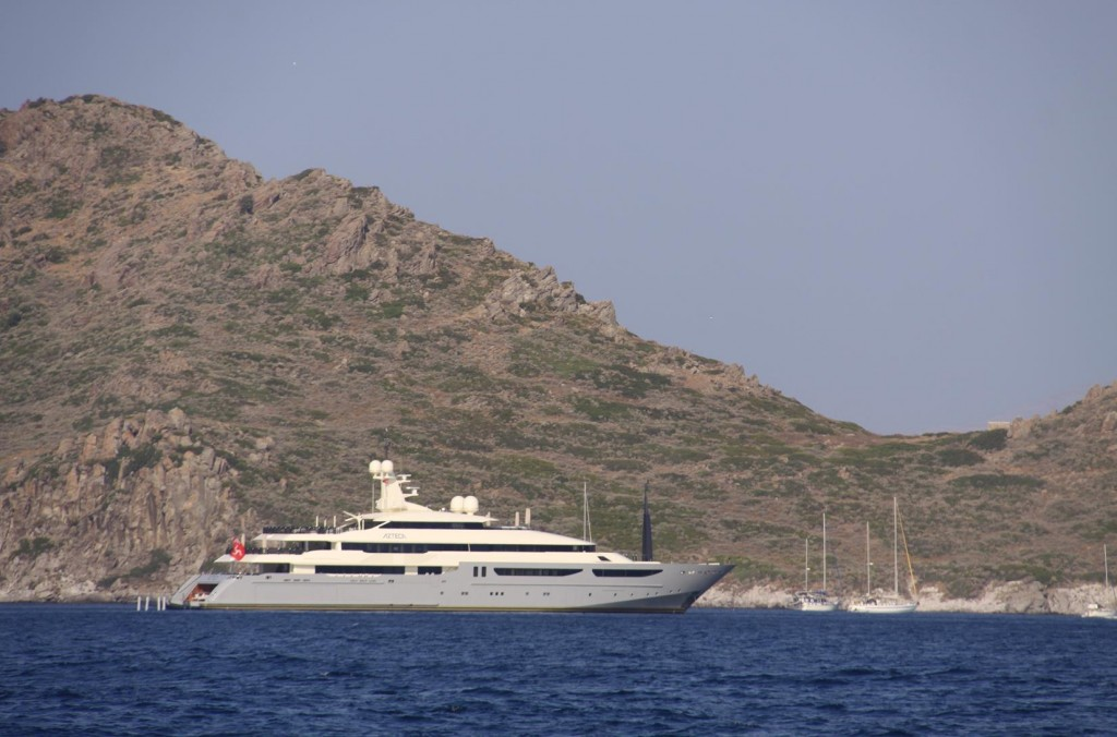 Small and Large Yachts are Anchored by the Catalanda Islands