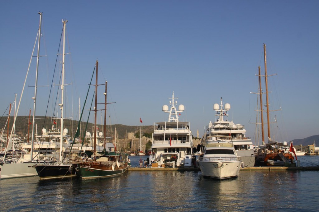 Some Large Boats in the Marina at the Moment