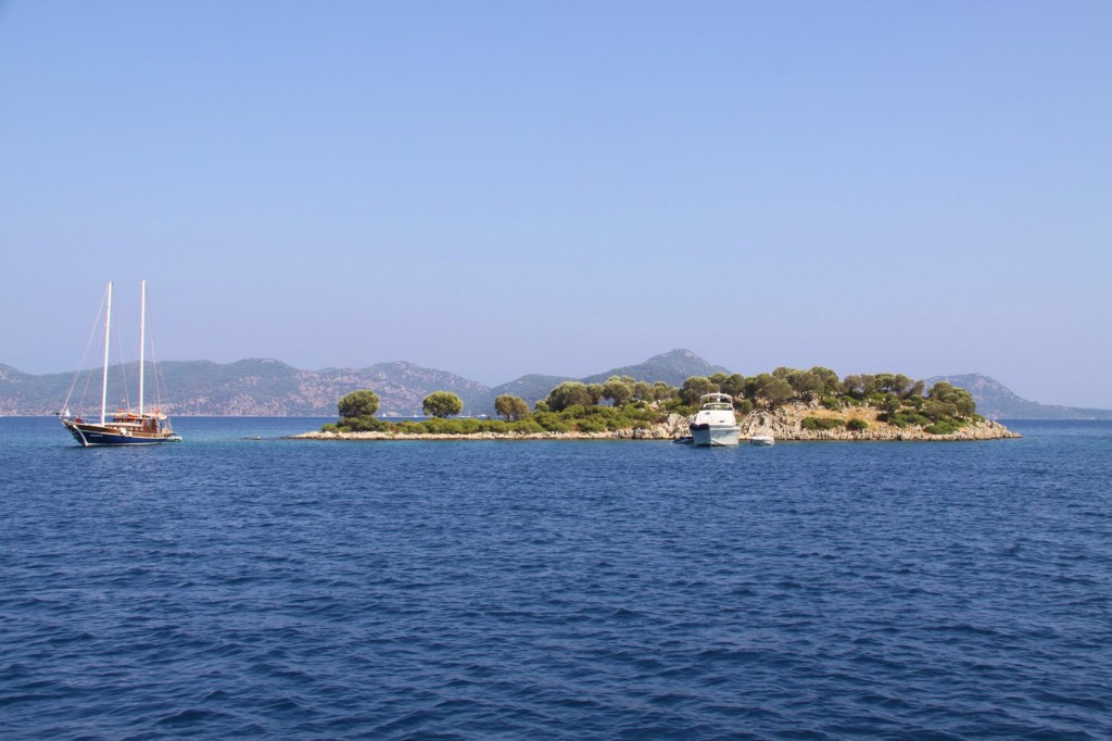 Fethiye Gulf has Many Tiny Islets Which are Good Swimming Spots