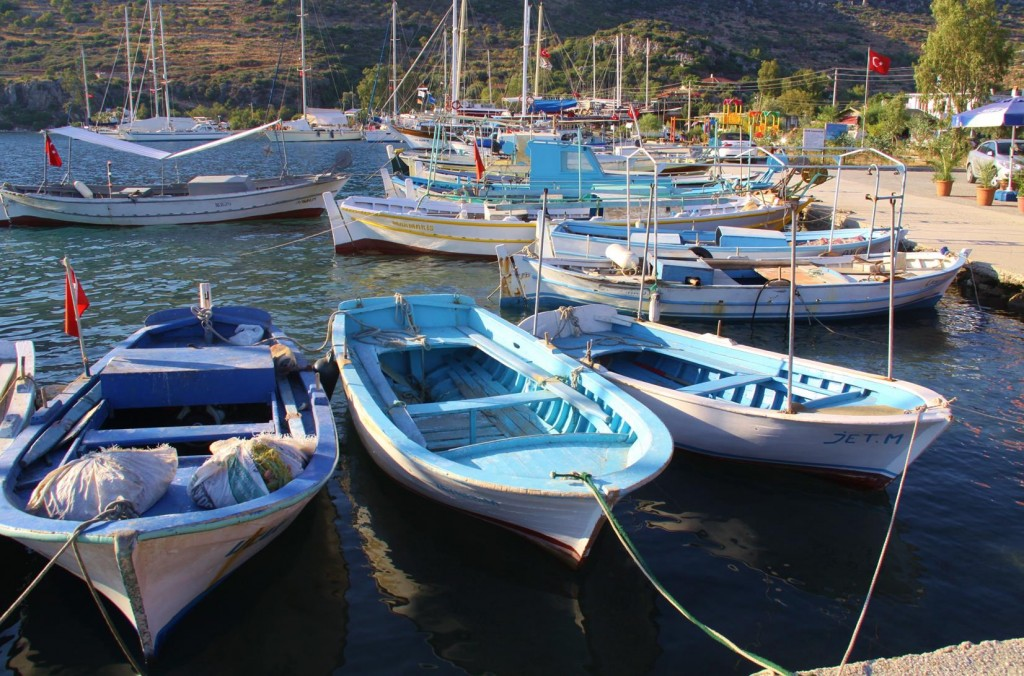 Colourful Boats Owned by the Locals of the Area