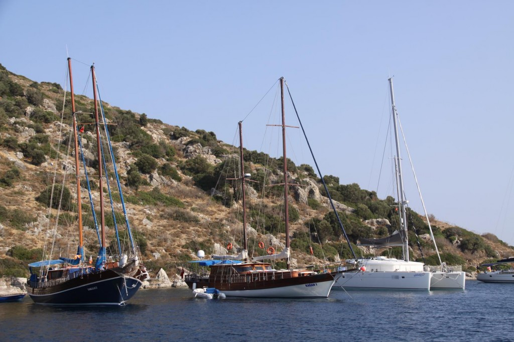 Gumusluk, West of Bodrum is a Popular Anchorage for Yachties