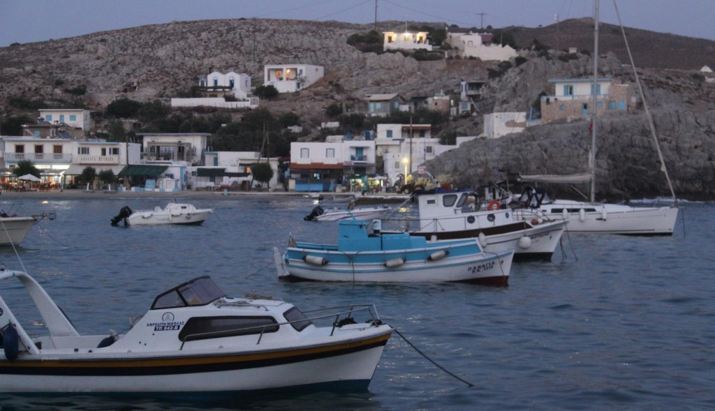 The Small Local Fishing Boats are Securely Tied Up Nearby