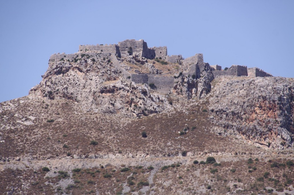 The Ancient Castle on Leros can be Seen from all Directions