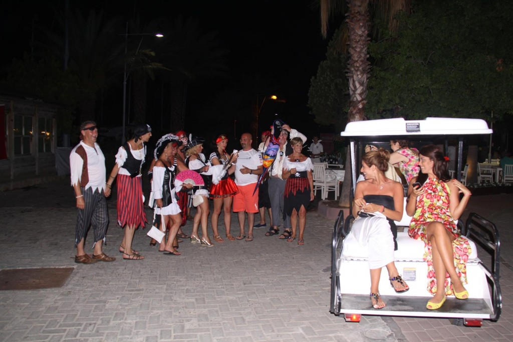 A Crowd of Happy Pirates After a Fun Night Out on a Gulet