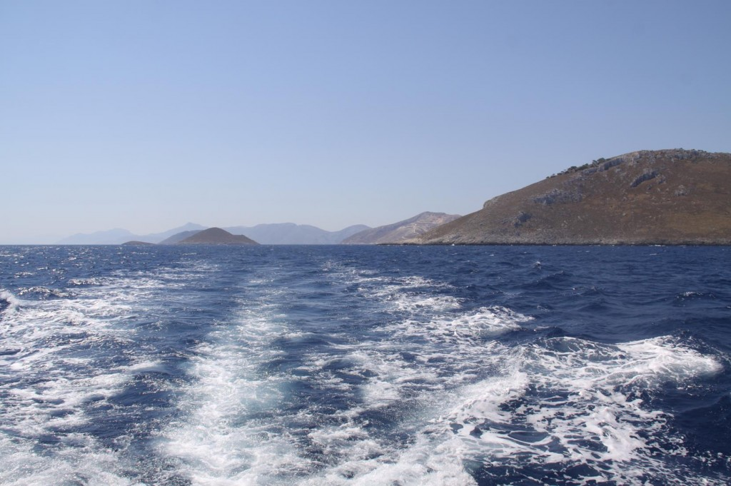 Looking Back to Kalimnos and Kos in the Distance