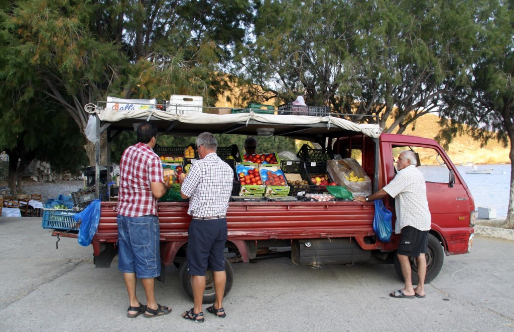 The Green Grocer Arrives with the Freshest Local Fruit and Vegetables