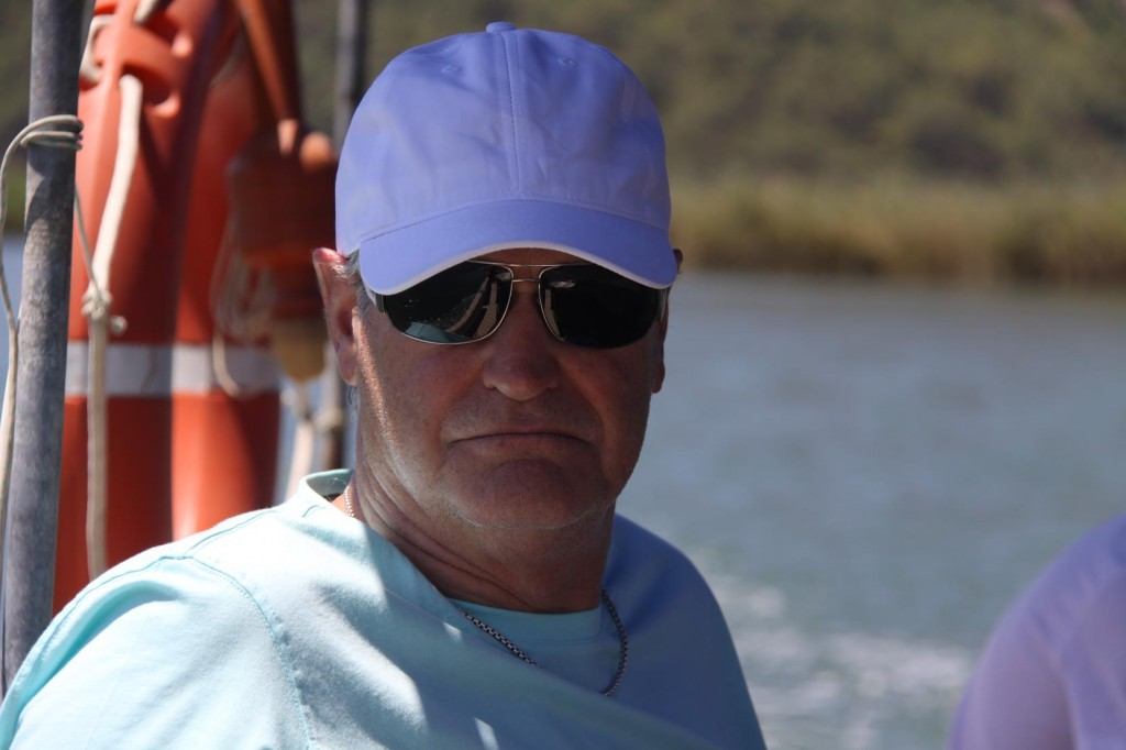Rod Looking Quite Quite Relaxed on Our Venture on the Dalyan River