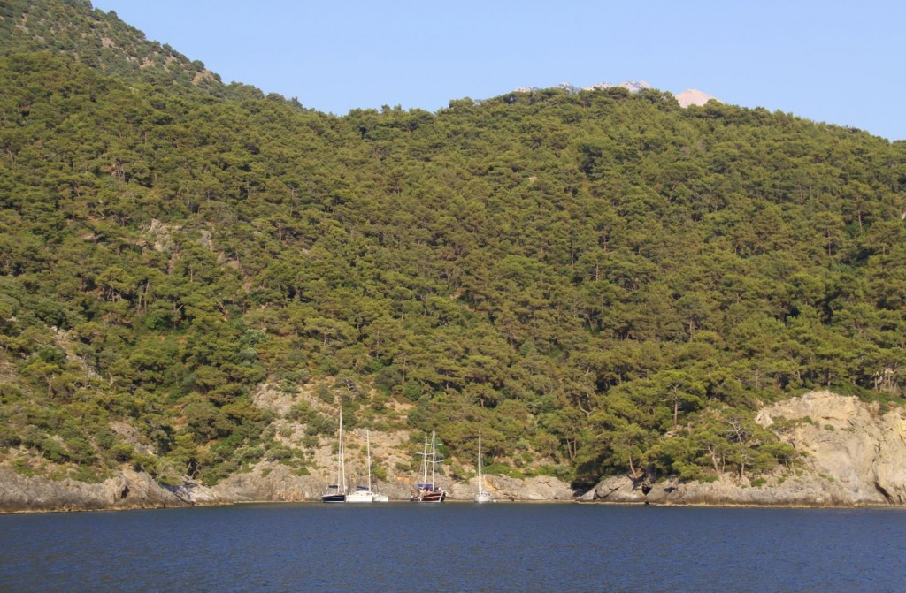 We Secure a Quiet Anchorage in a Secure Corner of Bestas Limani with Our Nearest Neighbours in the Distance