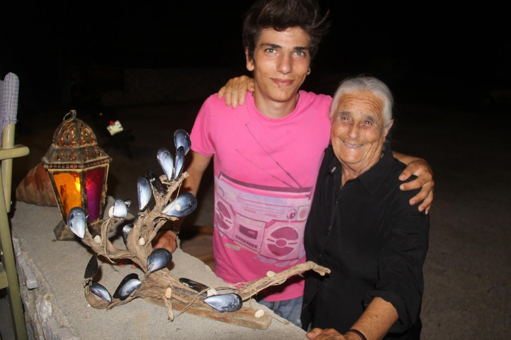 Son of the Owners, Max, a Confident Young Man Looked After Us all Evening. Photographed here with his 90 Year Old Grandmother