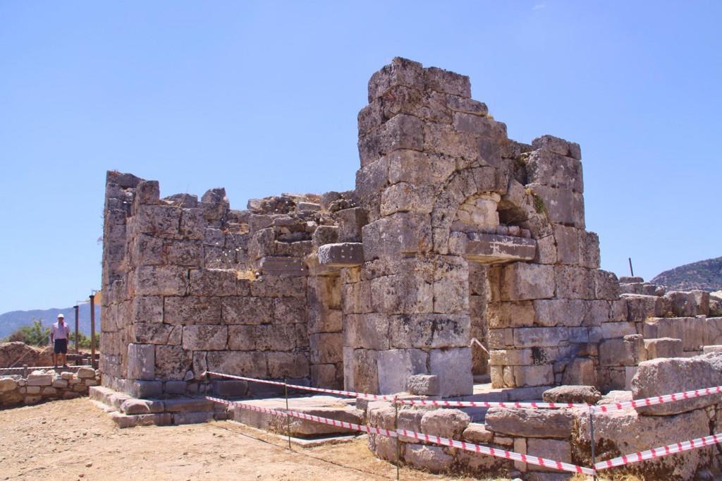 Parts of the Ancient Church Still Stand at Kaunos