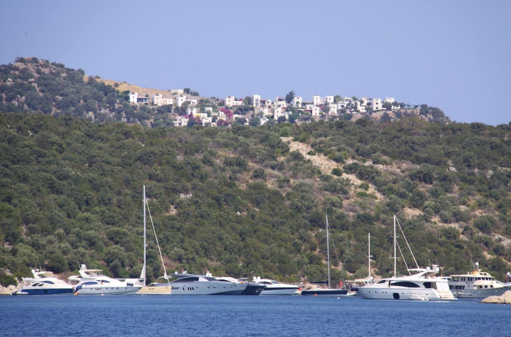 The Small Islet in Turk Buku is Surrounded by Yachts all Lined Up like Soldiers