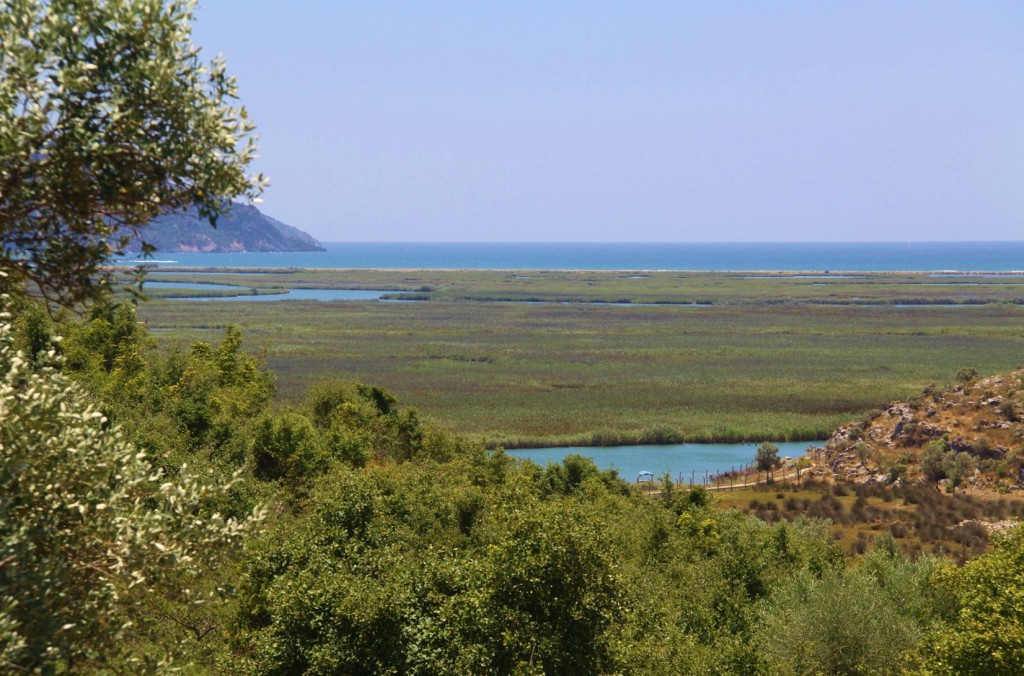 From Kaunos the Sea can be Seen over the Labyrinth of Canals Covered with Reeds
