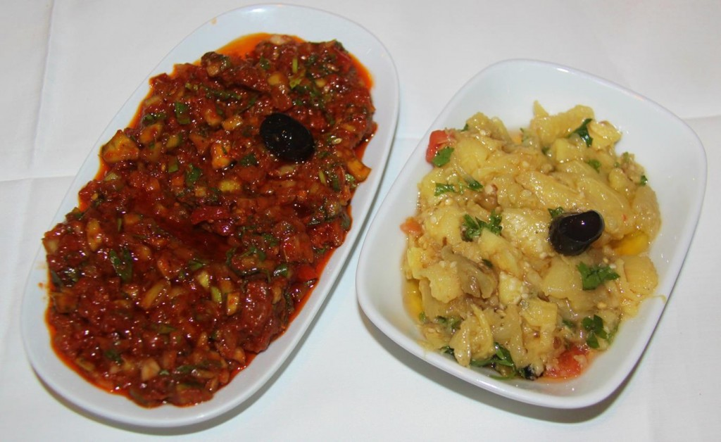 Excellent Spicy Esme and Delicious Aubergine Meze