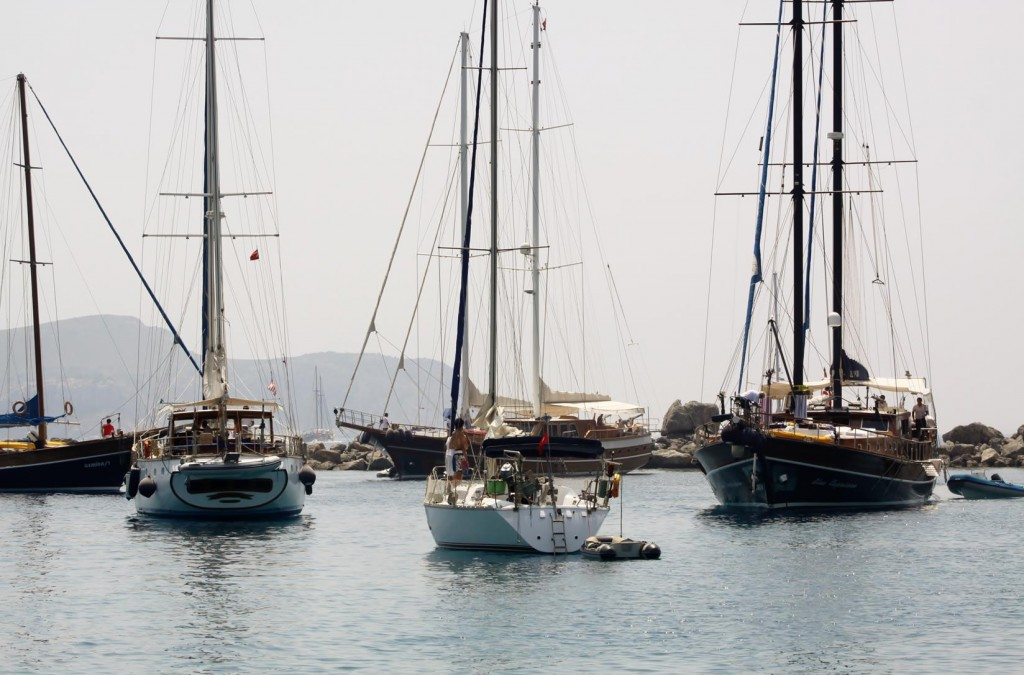 Knidos is Used for a Lunch Stop Over for Gulets Travelling to and from Bodrum or Marmaris