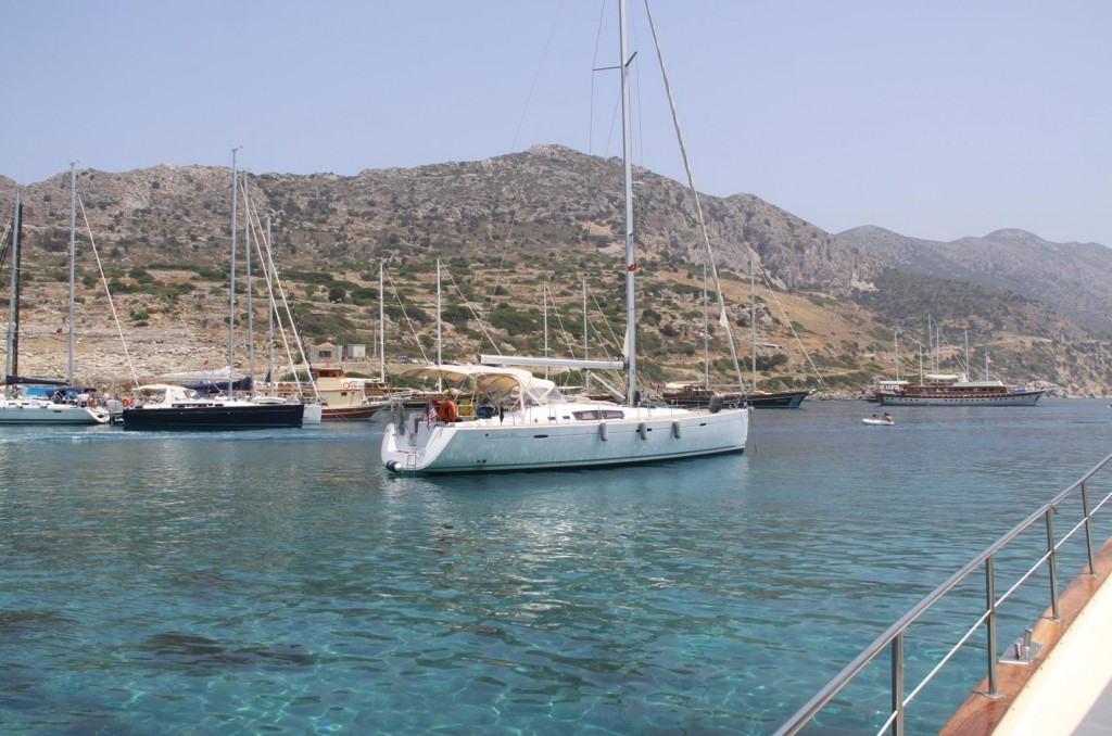 Despite the Traffic, the Water in the Knidos Harbour has Always been Quite Clear