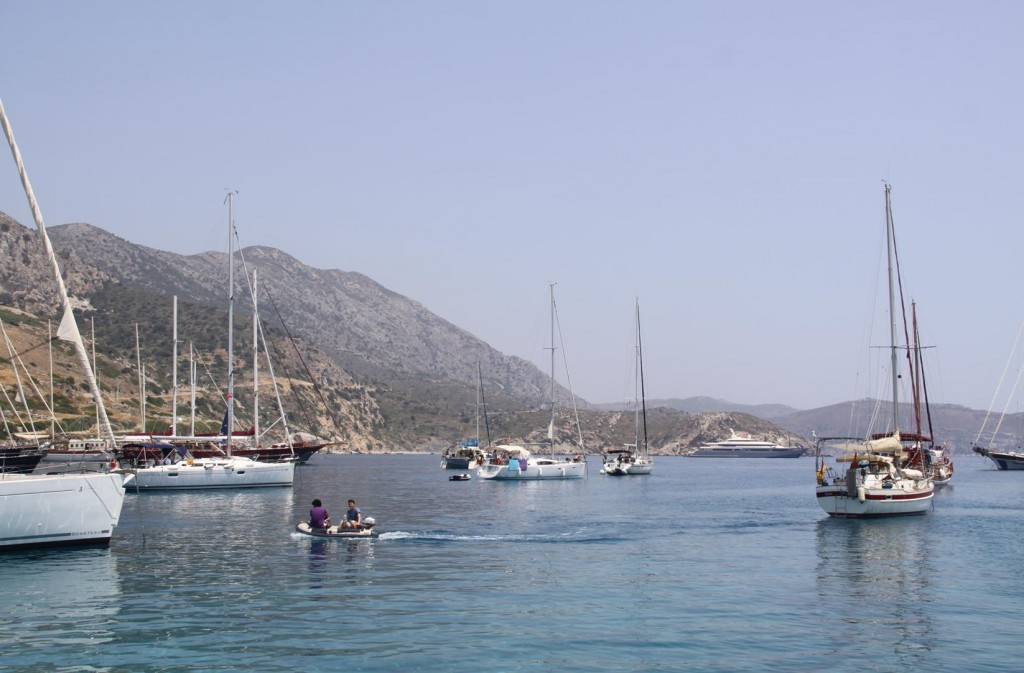 Yachts of All Sizes are Moored by Knidos