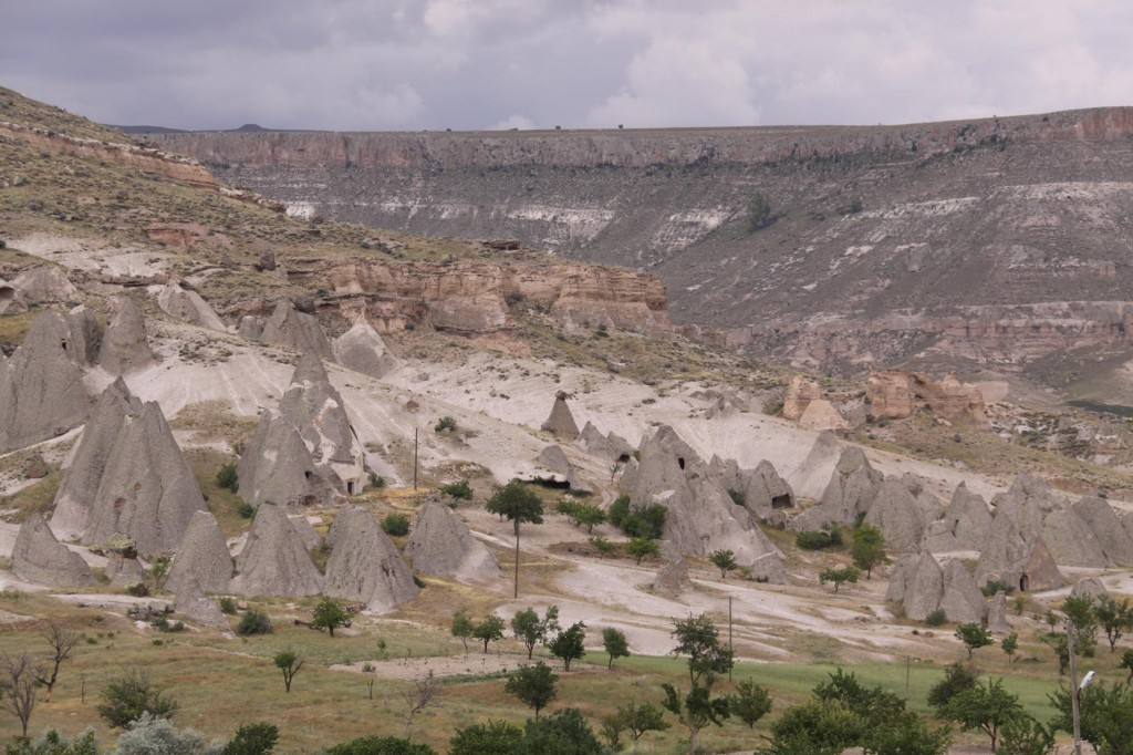 Rugged Valleys Scattered with Typical Cone Shaped Natural Structures