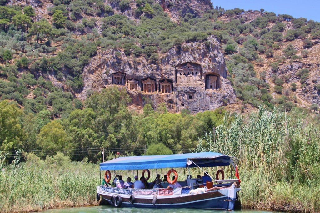 The Famous 4th Century BC Lycian Tombs at Dalyan
