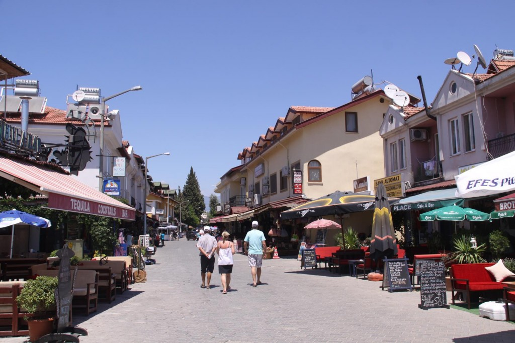 The Main Street of Dalyan Which Caters for the Needs of the Many Tourists that Come to this Area