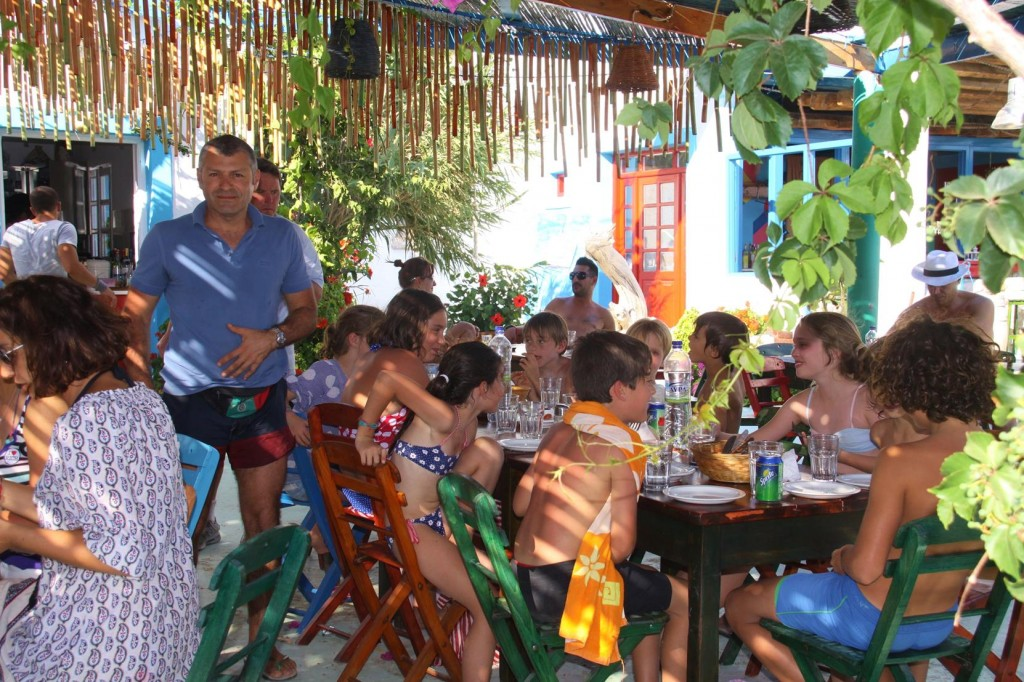 The Children are Well Catered for Here at the Taverna Too