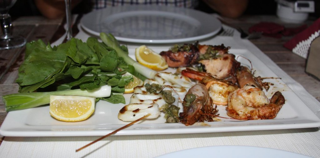 Delicious Grilled Seafood Entree to Share