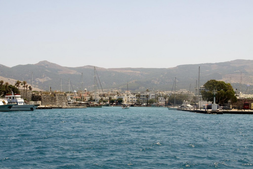 Approaching the Old Port of Kos