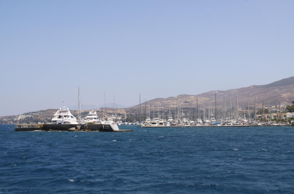 No Room in the Old Port so we go to the Kos Marina