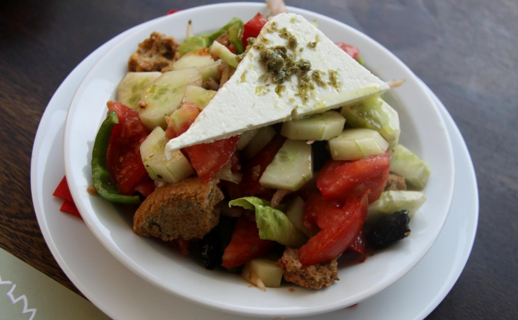 A Large Fresh Greek Salad to Share