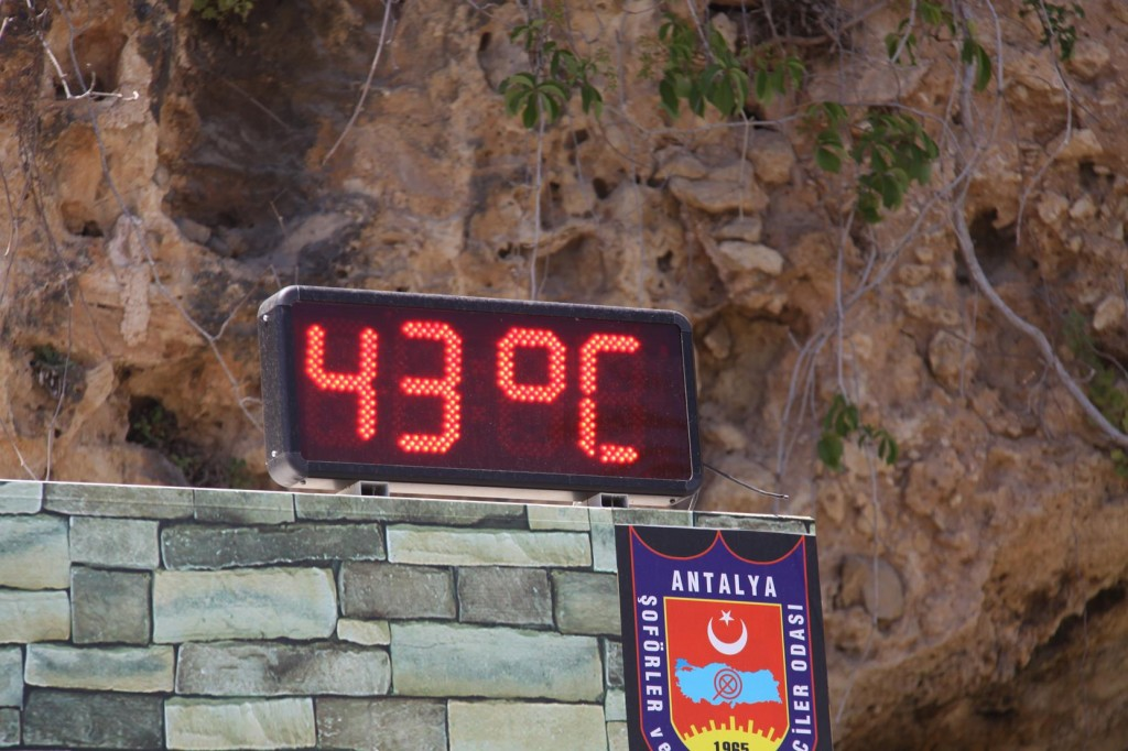 Very Hot Temperatures Today in Antalya