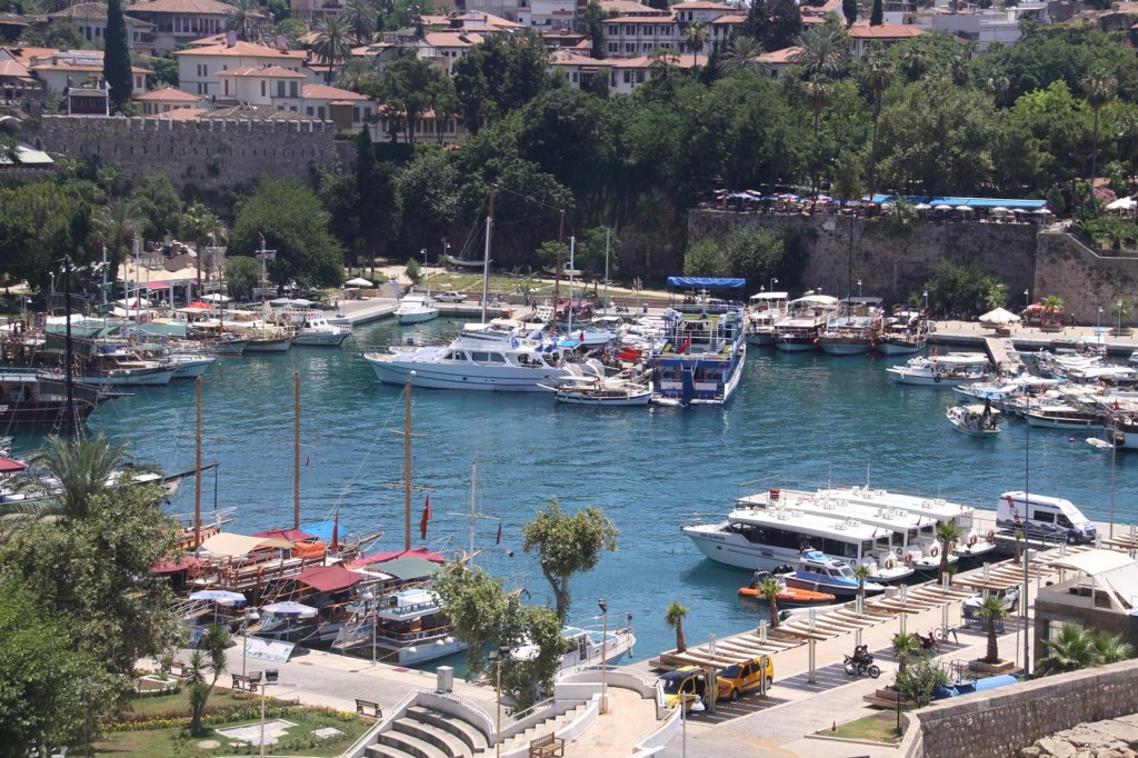 We Depart the Old Port in Antalya for Our Return to Finike