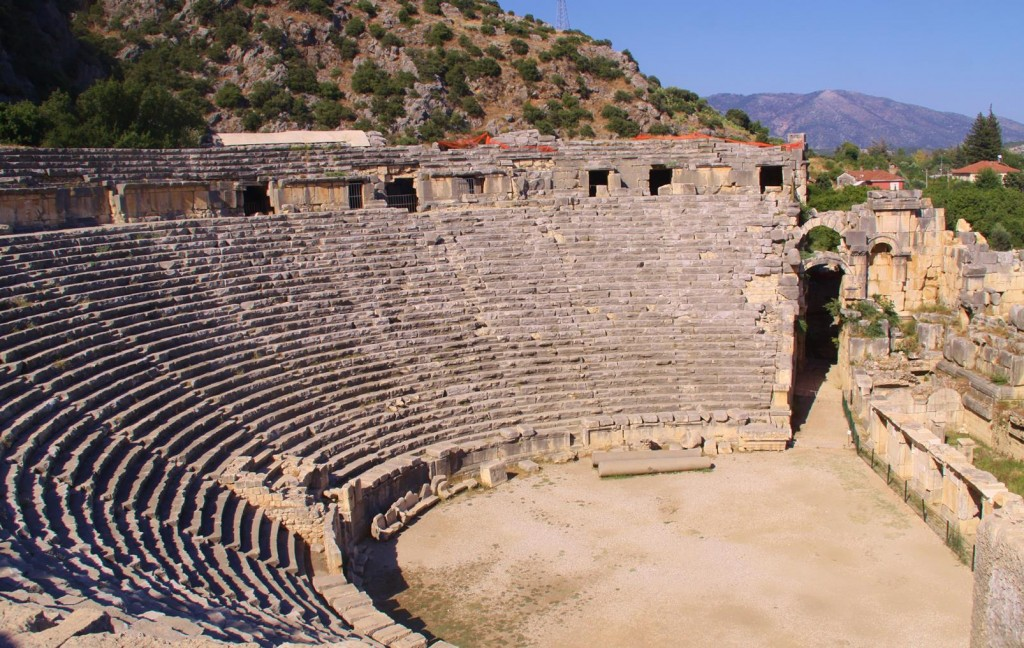 The Ancient Roman Ampitheatre at Myra Held up to 13,000 People