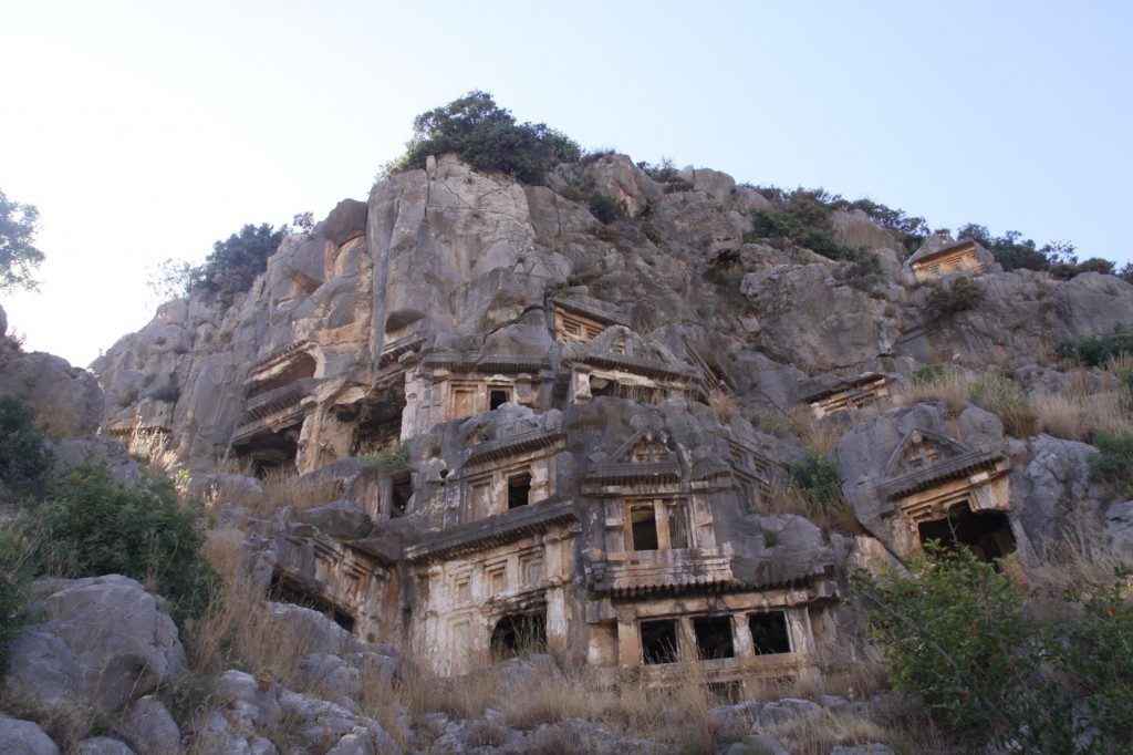 Many Lycian Rock Tombs are Carved into the Cliffs at the Old Site