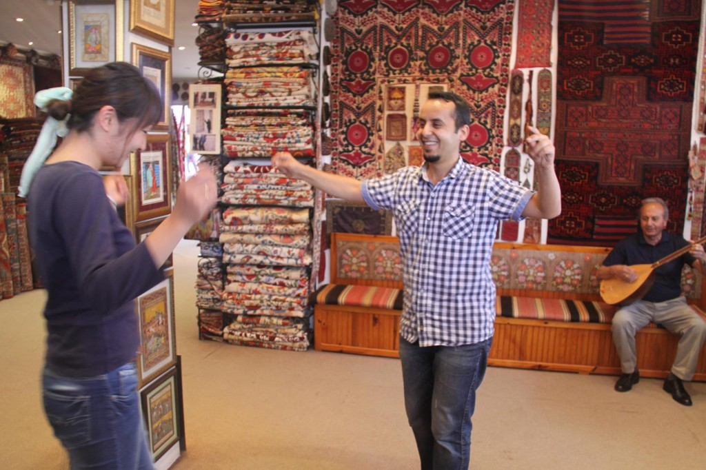 The Staff and Customers Dance to Murat's Turkish Singing and Strumming