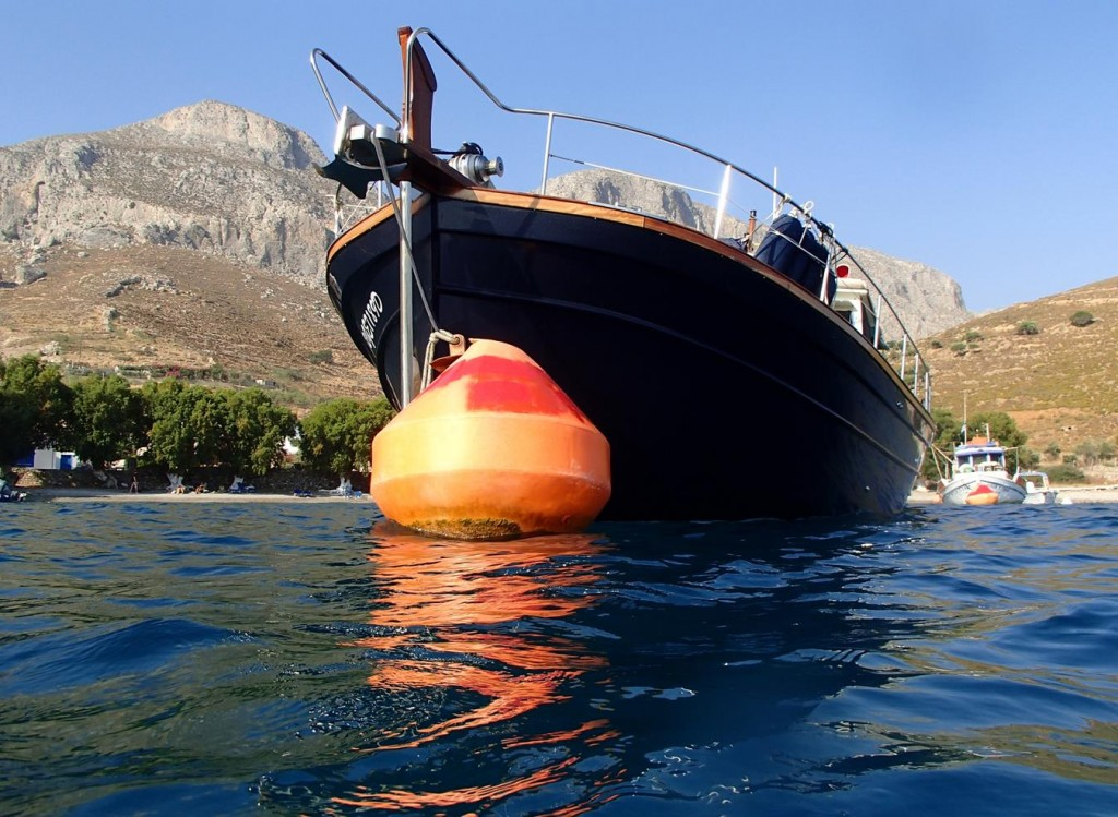 Today we Pick Up One of the  Large Mooring Buoys in the Bay