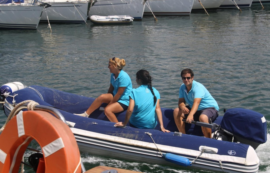 The Friendly and Helpful Staff at the Teos Marina