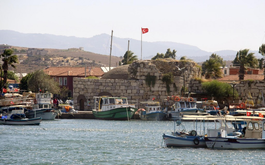 Passing the Quaint Tiny Fishing Port with Ancient City Wall