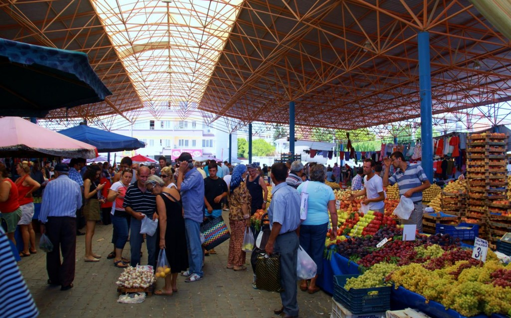 The Crowds of Shoppers at the Huge Market would have Numbered into the Thousands