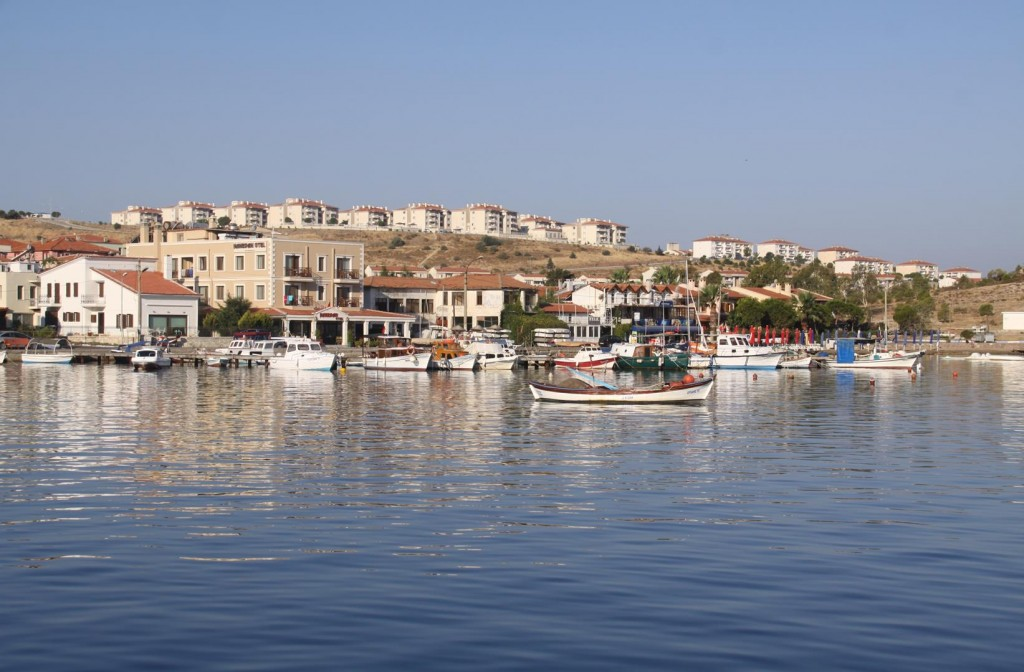 Looking Towards The Foca Yacht Club and a Couple of Hotels
