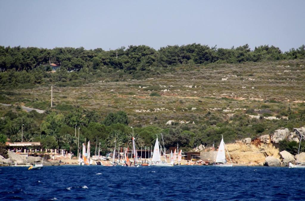 The Popular Sailing Club by the Large Hotel in Sigacik Korfezi