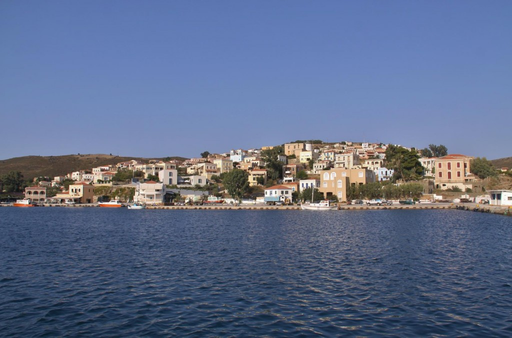 Inside the Harbour is the Beautiful Port of the Mandraki Township