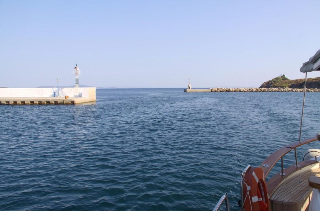 The Narrow Entrance to Mandraki Harbour
